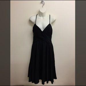 Zara basic black cocktail party dress medium